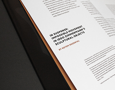 BOOK DESIGN FOR ARTIST IDDO ZIMMERMANN