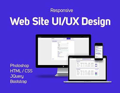 Responsive Website UI/UX Design