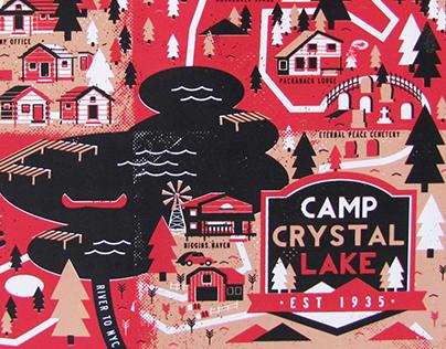 Camp Crystal Lake Illustrated Map