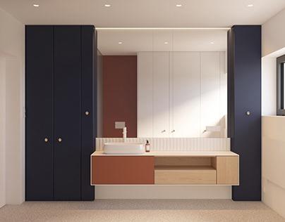 "COLORFUL BATHROOM ""EK""Modern Apartment | interior"