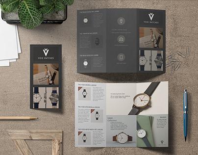 Void Watches Brochure Design