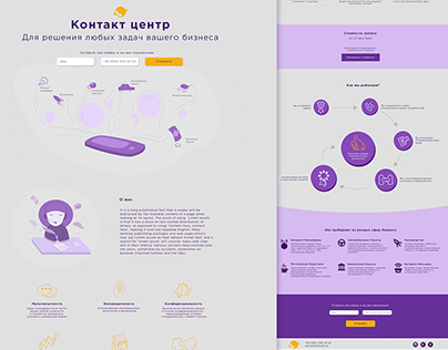 Landing Page for Call Center