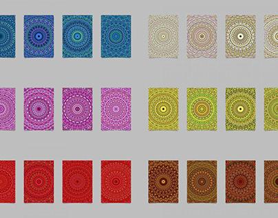 24 Floral Mandala Brochure Backgrounds