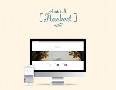 Amici di Hackert - Logo e Web site