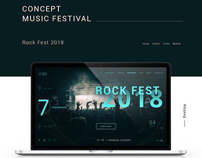 Concept music festival ROCK FEST 2018