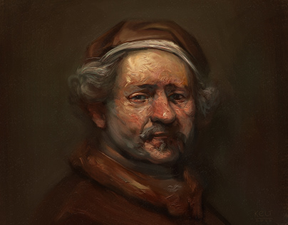 Digital Master Study Portrait of Rembrandt