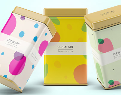 Loose Leaf Tea Tin Package Design