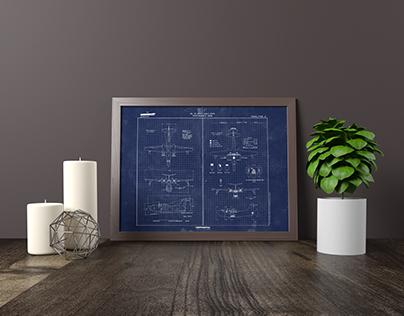 Blueprint Wall Art 🚀