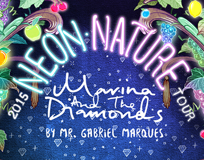 Official Poster for Neon Nature Tour by Mr.GM