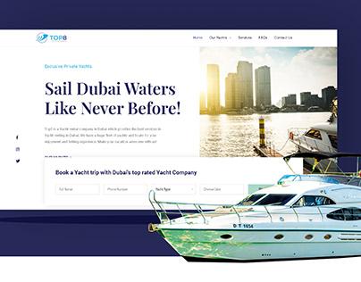 Website design for a Yacht rental company in Dubai