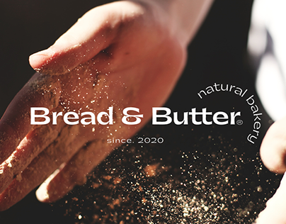 Bread & Butter natural bakery branding