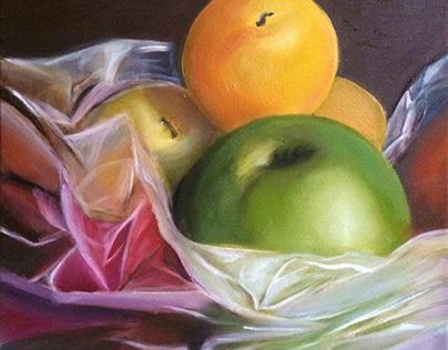 Fruit Retreat - Oil on Canvas