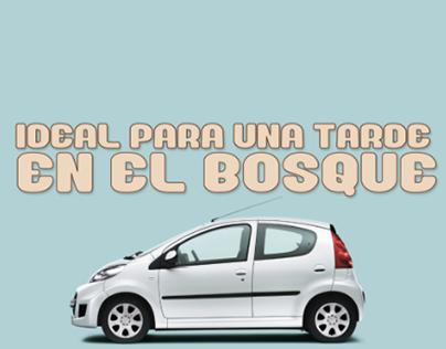 Campaña gráfica Peugeot 107
