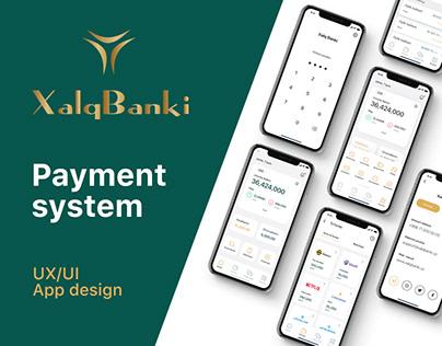 Xalq Banki Payment System APP design