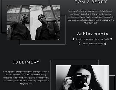 UI/UX - Black Ventures Website Design