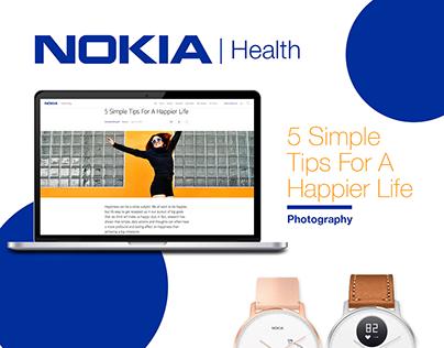 NOKIA Health Blog + Social Media Campaign | Photography
