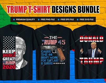Trump Print Ready Vector T-Shirt Design