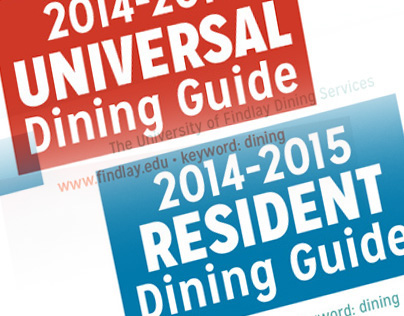 2014 Dining Brochures
