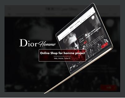 DIOR HOMME Brand Integrational concept design