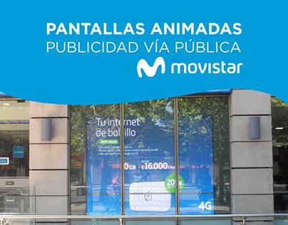Pantallas Animadas Movistar (BTL)