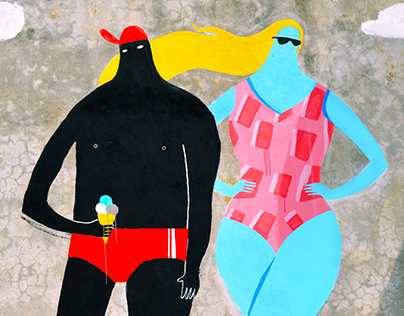 Zarko And Blonde at the sea