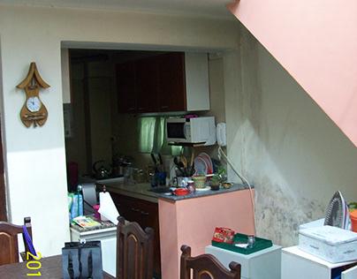 Cocina y escalera en Valentin Alsina, Buenos Aires
