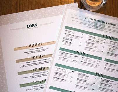 Loks Bar & Kitchen - Menu Design 2016