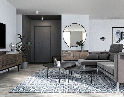 RENDERS OF SIMPLE APARTMENT