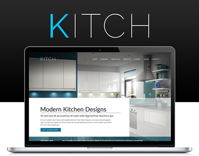 Kitch - Free PSD Website Template