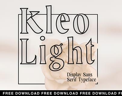 Kleo Light Free Display Sans Serif Typeface