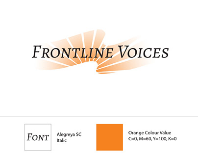 Frontline Voices Logo and Website Design