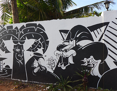 Wall Mural and adventures in Sri Lanka
