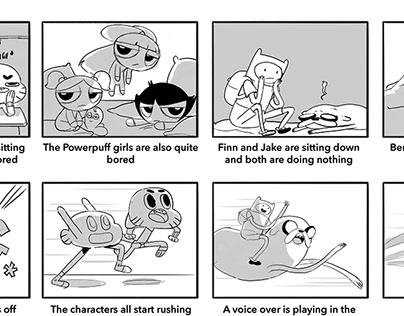 In-house Storyboards Cartoon Network promos 2016 - 2018