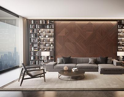 Wood Wall_MBrender Archviz