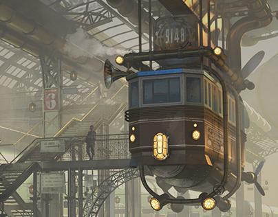 Steampunk Trainstation