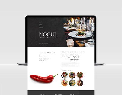 "Web design ""NOGUL"" lounge&terrace"