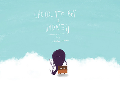 Chocolate boy & Sadness children's book characters