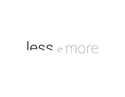 Logo - Less is More