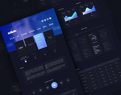 Dark Dashboard Concept - Tablet