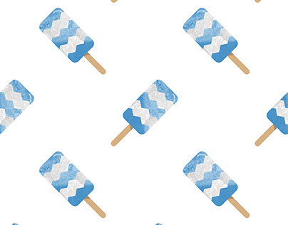 100 Watercolor Popsicle Pattern Seamless Background