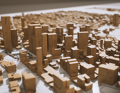 Unreal 5 wood model of NY