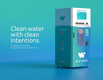 Water vending branding