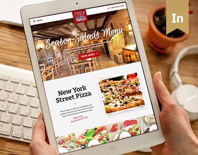 New York Street Pizza website