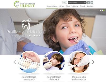 Projekt strony internetowej firmy Uldent