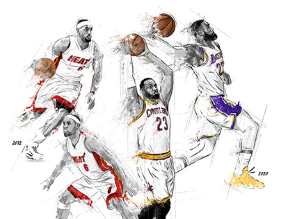FOUR RINGS! LeBron James Illustrations (+Videos)