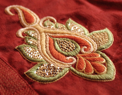 THE FAMOUS HAND EMBROIDERY OF KOLKATA....