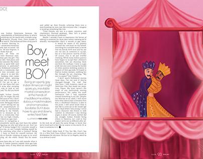 ELLE India, February 2019, Editorial Illustration