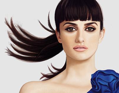 Penelope Cruz digital painting portret
