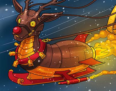 Christmas Card 2017 Illustration