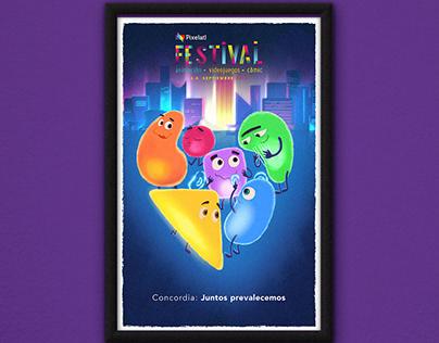 Poster Pixelatl - El Festival 2018